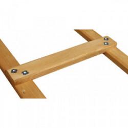 Echelle de couvreur renforcée en bois pro 3 m de marque OUTIFRANCE , référence: B1191500