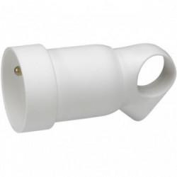 Fiche 16A femelle anneau blanc de marque LEGRAND, référence: B1210000