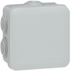 Boîte de dérivation IP55 65x65x40 mm gris de marque LEGRAND, référence: B1220200