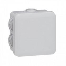Boîte de dérivation IP55 80x80x45 mm gris de marque LEGRAND, référence: B1220400