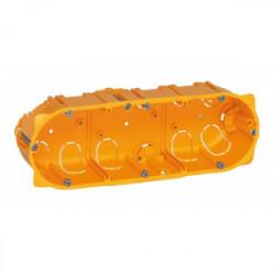 Boîte d'encastrement 3 postes batibox plaque de plâtre profondeur 40 mm de marque LEGRAND, référence: B1226000
