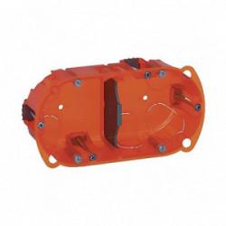 Boîte d'encastrement 2 postes batibox multi matériaux profondeur 40 mm de marque LEGRAND, référence: B1226900
