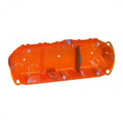 Boîte d'encastrement 3 postes batibox multi matériaux profondeur 40 mm de marque LEGRAND, référence: B1227100