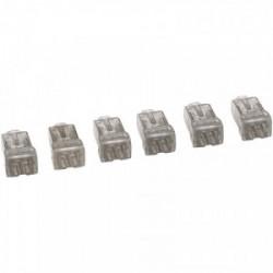 6 bornes de connexion sans vis 2 fils Nylbloc de marque LEGRAND, référence: B1228200