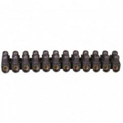 Barrette 2 x 12 Nylbloc noire de marque LEGRAND, référence: B1229300