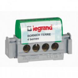 Bornier terre vert 4 borne 16mm² de marque LEGRAND, référence: B1231300