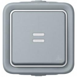 Plexo poussoir lumineux gris saillie de marque LEGRAND, référence: B1240800