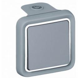 Plexo poussoir gris en saillie de marque LEGRAND, référence: B1240900