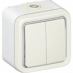 Plexo double va et vient blanc saillie de marque LEGRAND, référence: B1247800