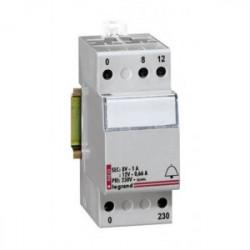 Transformateur pour sonnerie 230 / 12 / 8V 2 modules de marque LEGRAND, référence: B1262800