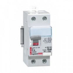 Interrupteur différentiel bipolaire 63A 30 mA type AC de marque LEGRAND, référence: B1273800