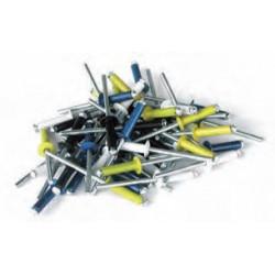 1000 rivets éclatés alu / acier à tête plate blanche Ø 4 x 16 mm de marque TECHMAN, référence: B1295400