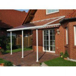 Toit terrasse blanc avancée 3m - 21m2 de marque CHALET & JARDIN, référence: J1366800