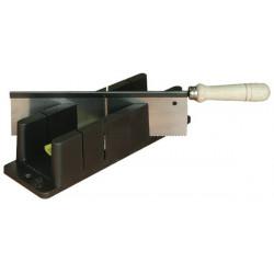Boîte à onglet plastique + scie à dos de marque OUTIFRANCE , référence: B1382800