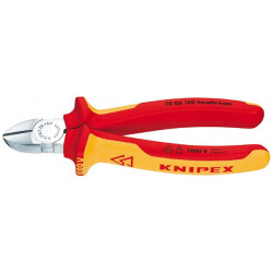 Pince coupante diagonale isolée 1000 V de marque KNIPEX , référence: B1399300