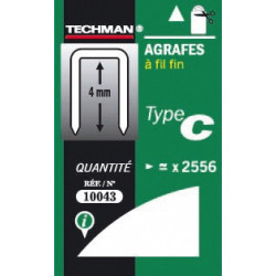 5000 agrafes type D 14 mm de marque TECHMAN, référence: B1406500
