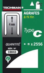 Agrafes 4 mm - type C