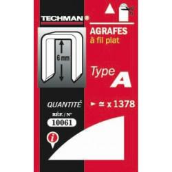 Agrafes 6 mm - type A de marque TECHMAN, référence: B1476700