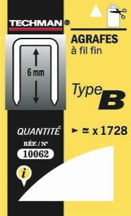 Agrafes 6 mm - type B