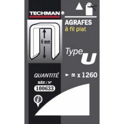 Agrafes 6 mm - type U de marque TECHMAN, référence: B1477000