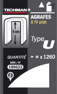 Agrafes 6 mm - type U