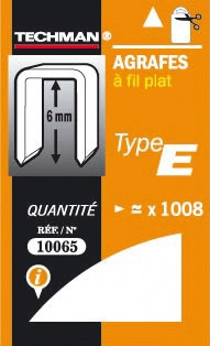 Agrafes 6 mm - type E