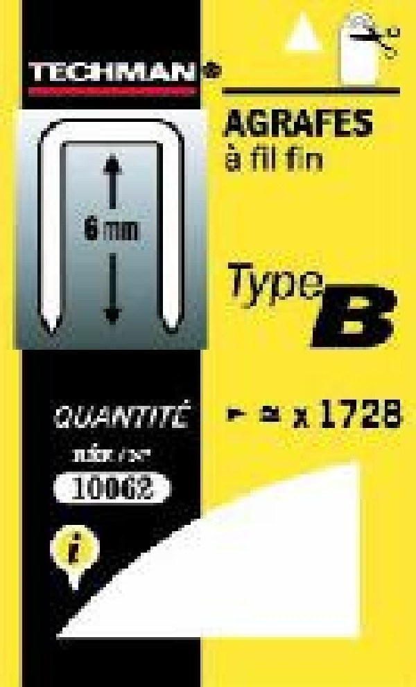 Agrafes 10 mm - type B