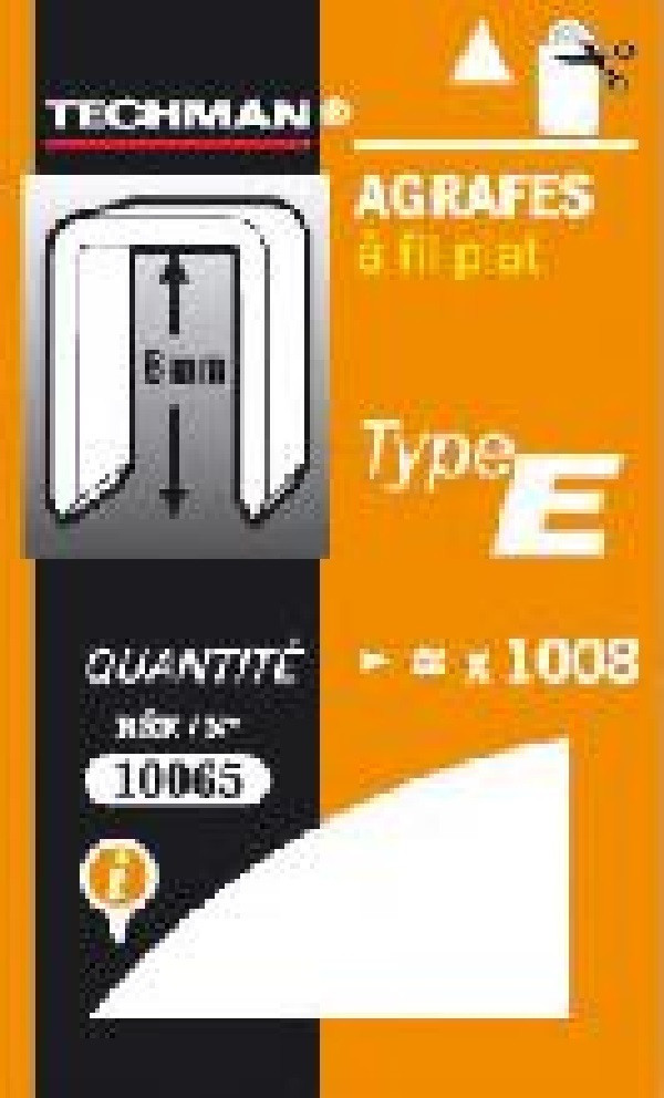 Agrafes 10 mm - type E