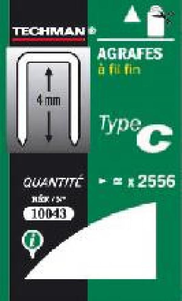 Agrafes 12 mm - type C