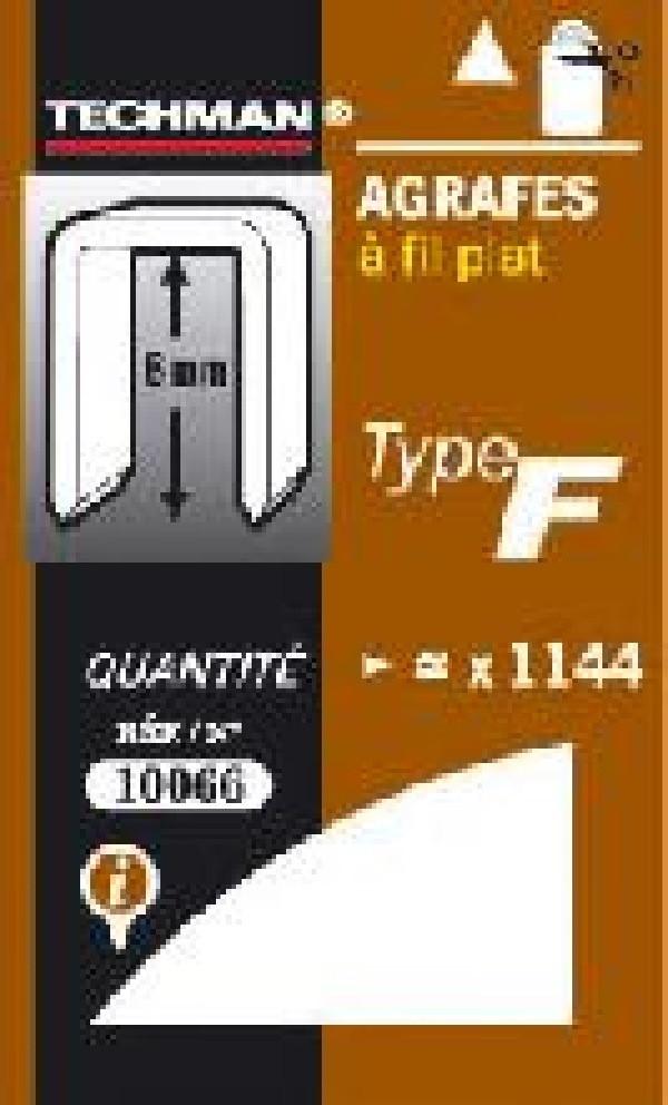 Agrafes 14 mm - type F