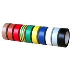 10 rouleaux de ruban adhésif PVC électricien multicolores de marque OUTIFRANCE , référence: B1487500