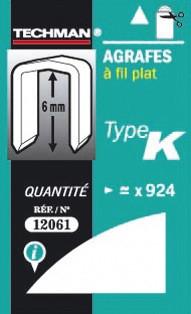 Agrafes 6 mm - type K