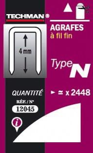 Agrafes 6 mm - type N