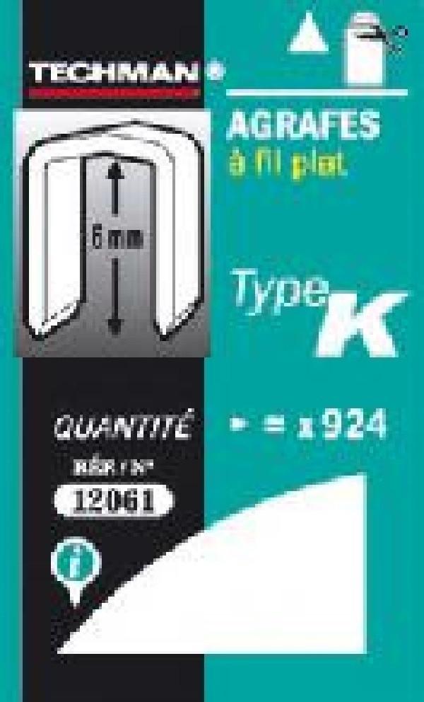 Agrafes 12 mm - type K