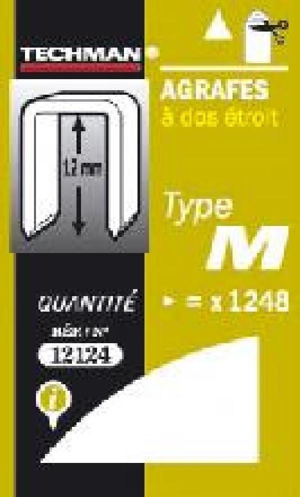 Agrafes 12 mm - type M