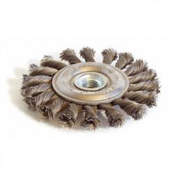 Brosse métallique plate mèches torsadées 115 mm de marque TECHMAN, référence: B1555300