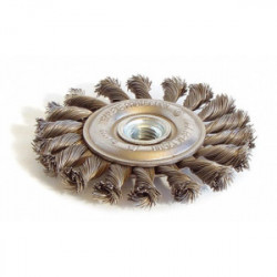 Brosse métallique plate mèches torsadées 125 mm de marque TECHMAN, référence: B1555400