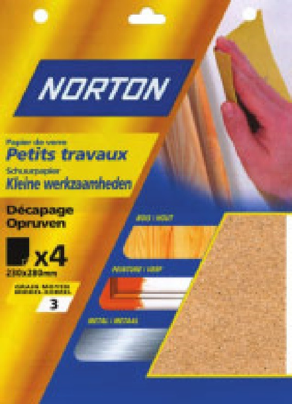 4 feuilles de papier silex (grain 5)