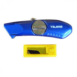Couteau professionnel à lames rétractables + 10 lames de marque TAJIMA, référence: B1596400