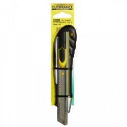 Cutter 18 mm sécurité 2 en 1 de marque OUTIFRANCE , référence: B1596700