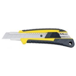 Cutter 18 mm bi-matière (blocage auto. par bouton) de marque TAJIMA, référence: B1596800