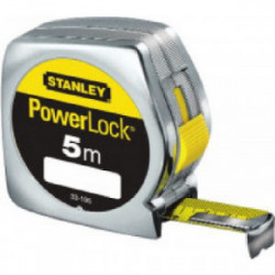 """Mesure """"Powerlock"""" ABS 5 m x 25 mm de marque STANLEY, référence: B1604700"""