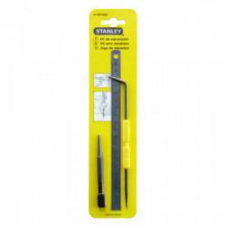 Kit mécanicien (réglet + pointeau + pointe à tracer) de marque STANLEY, référence: B1606600