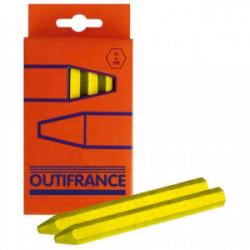 Boîte de 12 craies jaunes industrielles de marque OUTIFRANCE , référence: B1626800