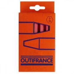 Boîte de 12 craies rouges industrielles de marque OUTIFRANCE , référence: B1627000