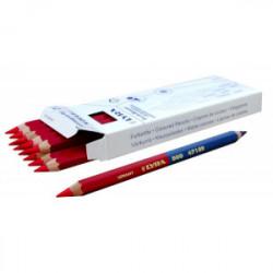 12 crayons bicolore bleu/rouge 175 mm de marque OUTIFRANCE , référence: B1630300