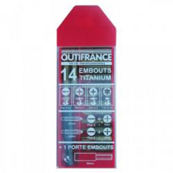 Coffret de 15 embouts de vissage de marque OUTIFRANCE , référence: B1676500