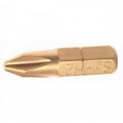 Coffret de 3 embouts de vissage Cruciforme n°3 (25 mm) de marque FAITHFULL, référence: B1677400