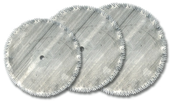 3 disques scie 16 / 19 / 22 mm