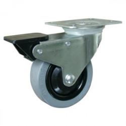 Roulette pivotante avec frein (platine 100 x 80 mm) de marque OUTIFRANCE , référence: B1697600